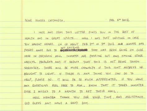 Letter To Husband In Prison by Corcoran Asu Hunger Strikers Continue After One Starves To