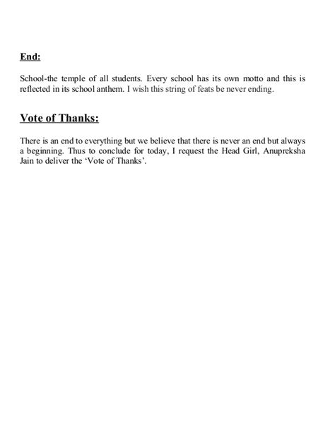 template of vote of thanks comfortable vote of thanks template ideas exle resume