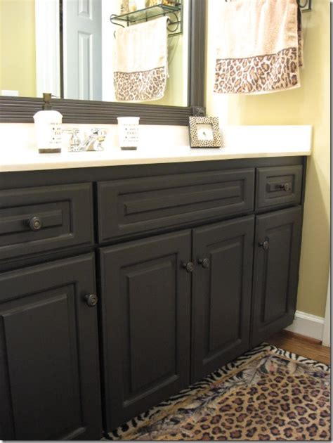 how to paint a bathroom cabinet black painted laminate cabinets southern hospitality