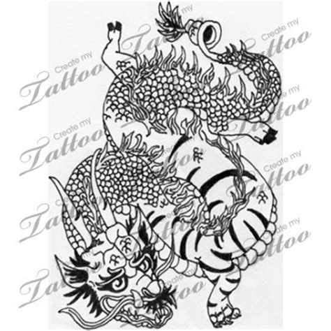 chinese dragon and tiger tattoo designs marketplace mutated and tiger 13814