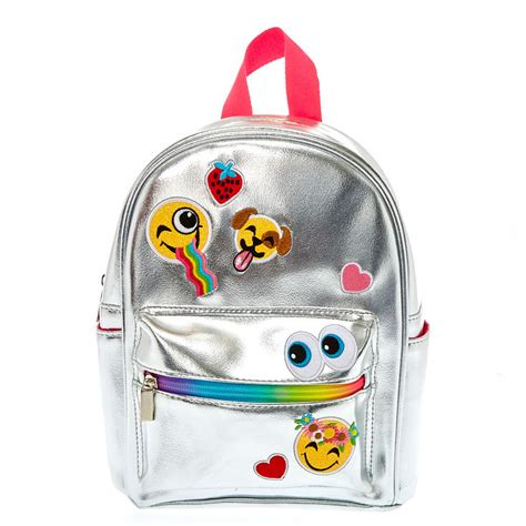 Where Can You Buy Claire Gift Cards - mini metallic silver emoji backpack claire s ca