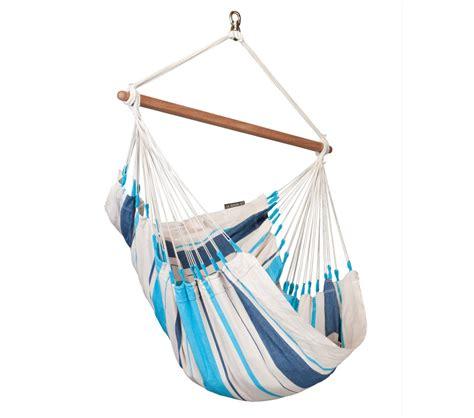 chaise hamac suspendu chaise hamac basic colombienne caribe 241 a bleu la siesta