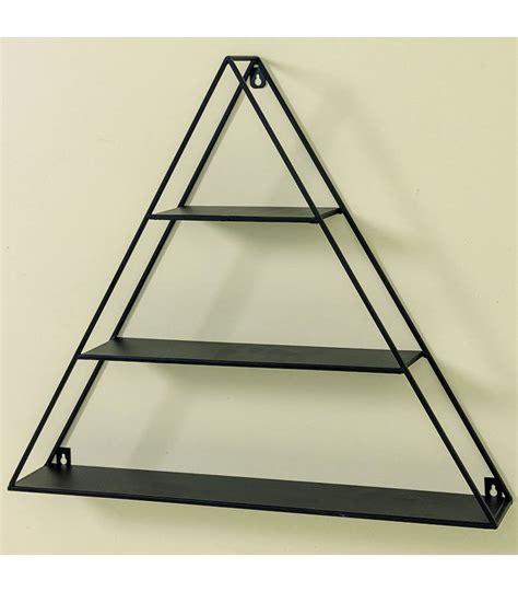 etagere 52 cm 201 tag 232 re murale en m 233 tal noir triangulaire hauteur 52cm