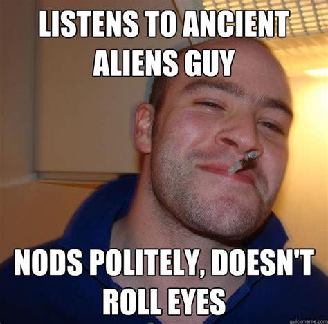 Crazy Hair Meme - ancient aliens hair guy progression memes