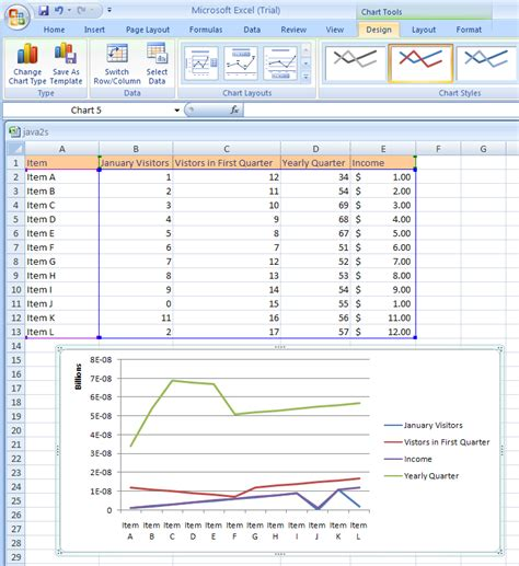 Create A Custom Chart Template Chart Template 171 Chart 171 Microsoft Office Excel 2007 Tutorial Excel Create Chart Template