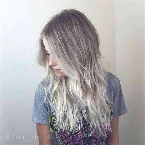 age for icy blonde hair icy ombr 233 sombre ombre hair color pinterest haar