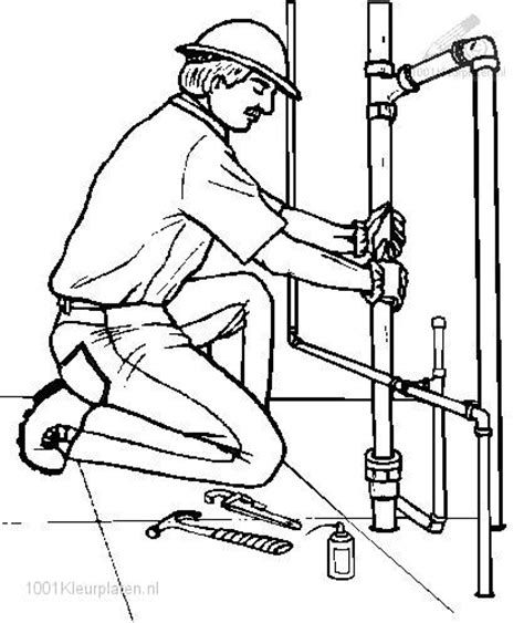 Page Plumbing by Plumber Coloring Page