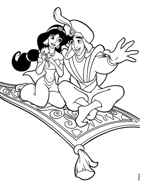 coloring page of jasmine from aladdin aladdin and jasmine coloring pages coloring home