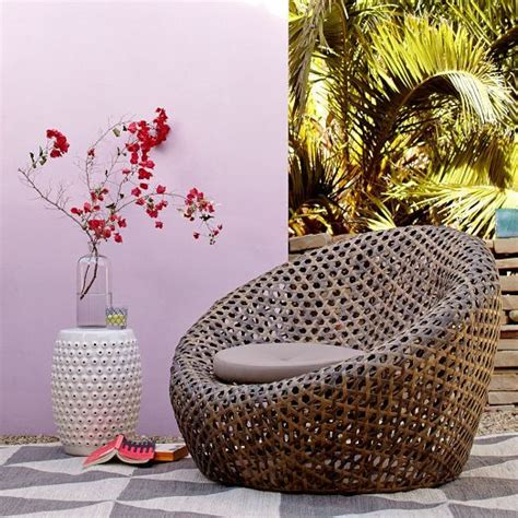 Montauk Nest Chair by Cocooned Basket Weave Seating Montauk Nest Chair
