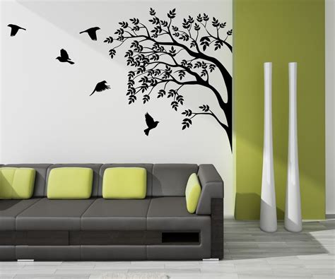 painting on wall decoration for your home interior with stunning tree
