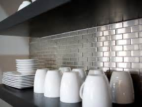 Stainless Steel Kitchen Backsplash Tiles stainless steel backsplashes pictures amp ideas from hgtv