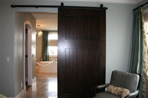 Master Bathroom Barn Door Barn Door Separating Master Bedroom And Bathroom Barn