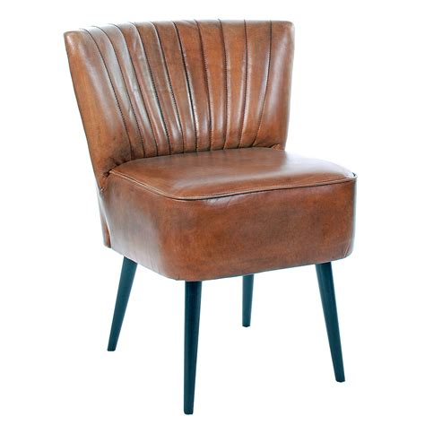 etta low back vintage leather dining chair brown dining