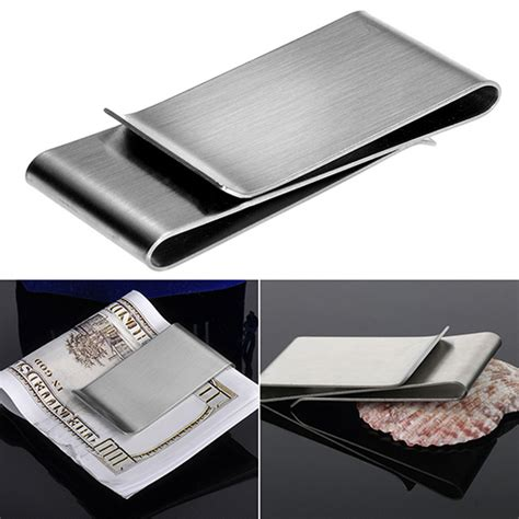 Money Clip Slim Clip Stainless Steel aliexpress buy stainless steel silver color slim money clip purse wallet credit card id