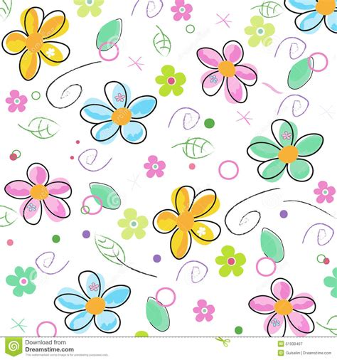free doodle flower vector colorful doodle flowers background stock vector