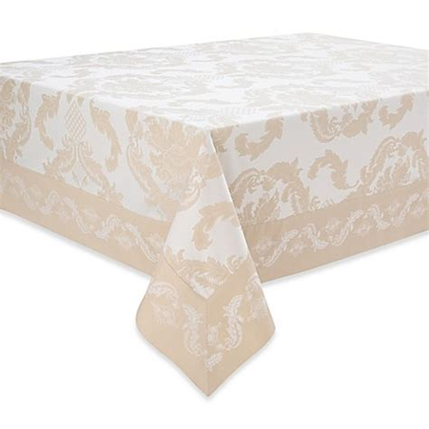 bed bath and beyond waterford waterford 174 linens damascus tablecloth and napkin bed bath beyond