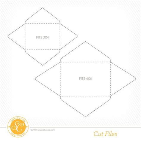 printable envelope template for 4x6 card free envelope cut files by julie cbell designed to