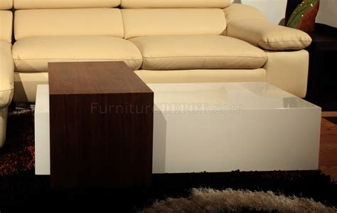 White Bench Coffee Table by Bench Coffee Table By Beverly In Walnut Hi Gloss White