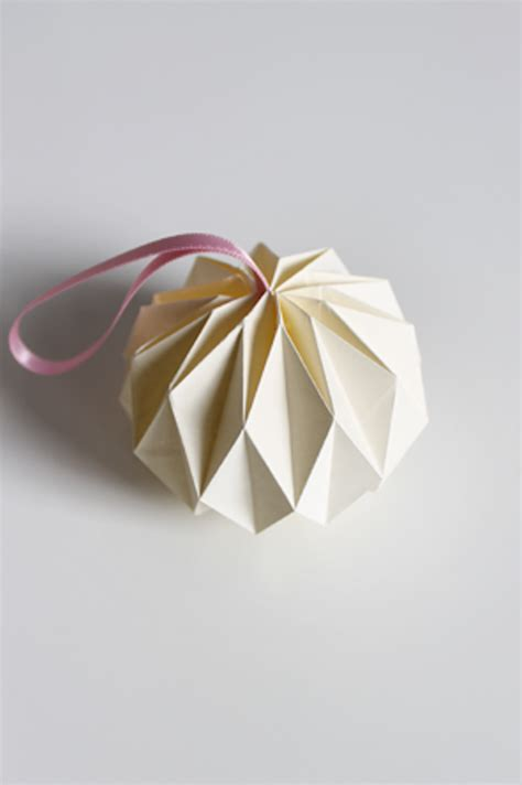 Folded Paper Ornament - origami ornaments apartment therapy