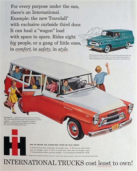 vintage toyota ad 1958 international trucks ad travelall wagon vintage