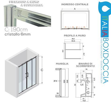 piatti doccia alti box doccia scorrevole per nicchia cristallo 6 mm cod p129