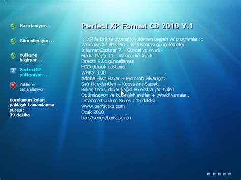 format cd xp sp3 perfect xp sp3 format cd 2010 v 1 tek link indir