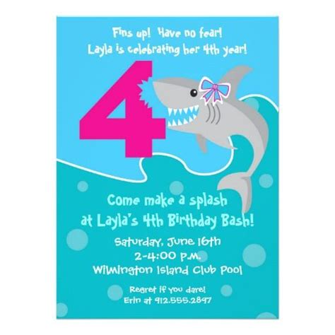 4th Birthday Invitation Cards 388 Best Images About 4th Birthday Party Invitations On