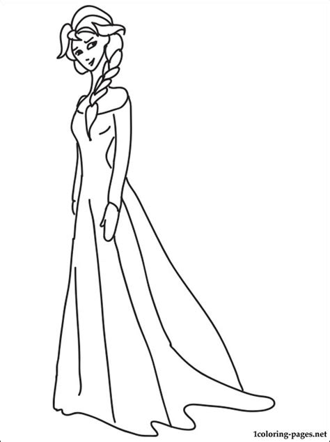princess elsa coloring page coloring pages