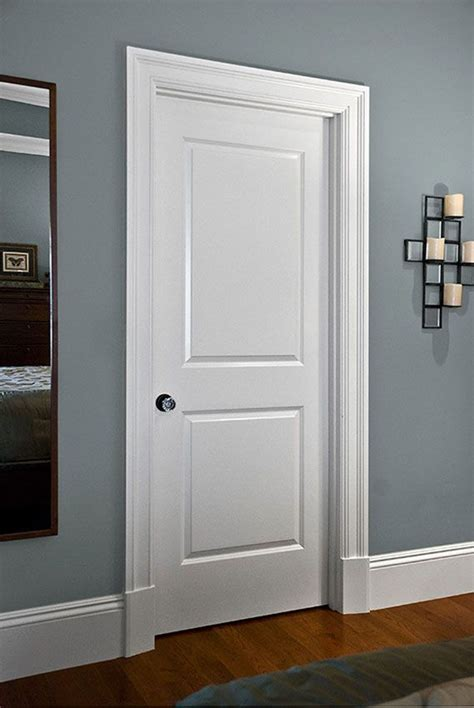 Masonite Wainscot by Moulding Makes A Difference 2 Panel Molded Door From