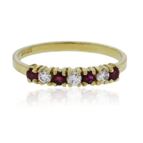 14k yellow gold ruby and wedding band ring boca raton
