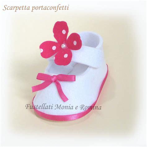 fiore pannolenci scarpetta feltro fiore pannolenci battesimo bimba