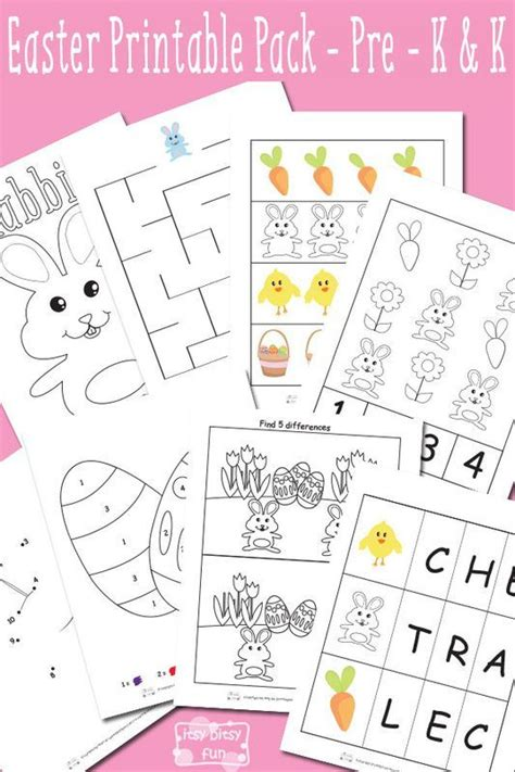 worksheets for preschool easter easter printable preschool and kindergarten pack easter