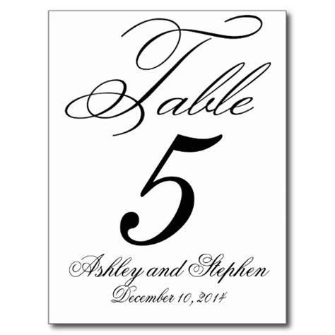 free printable wedding table number templates table number template clipart best