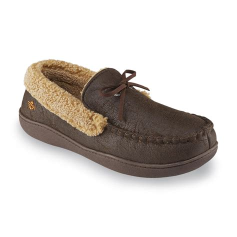 dockers mens slippers dockers s aviator brown moccasin slipper shop your