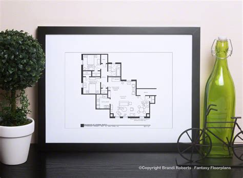 layout of monica s apartment friends apartment layout buy a poster of monica and