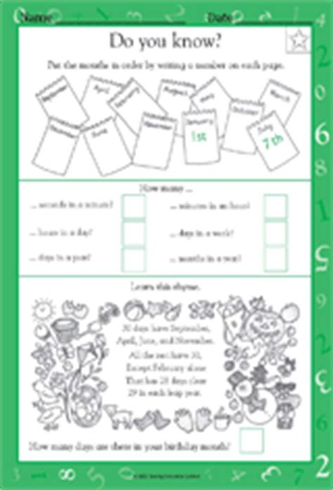 Calendar Review Worksheets Calendar And Time Measurement Math Practice Worksheet