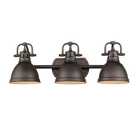 rubbed bronze vanity light fixtures golden lighting duncan rubbed bronze three light vanity