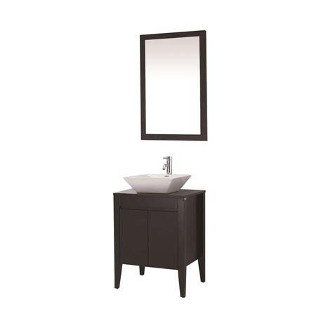 Ceramic Vanity dreamwerks 24 in vanity in espresso with ceramic vanity