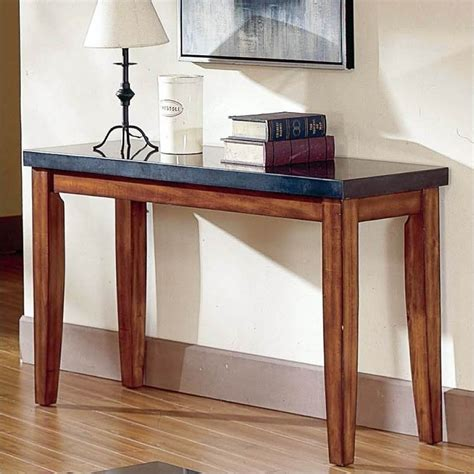 granite sofa table steve silver company montibello granite top sofa table