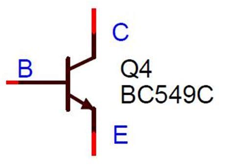 bc548 transistor symbol bc549 transistor