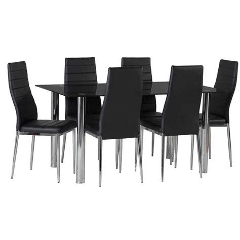 dina chrome dining chair decofurn factory shop blair black glass dining table 6 x betty dining chair