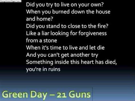 green day basket traduzione green day 21 guns with lyrics