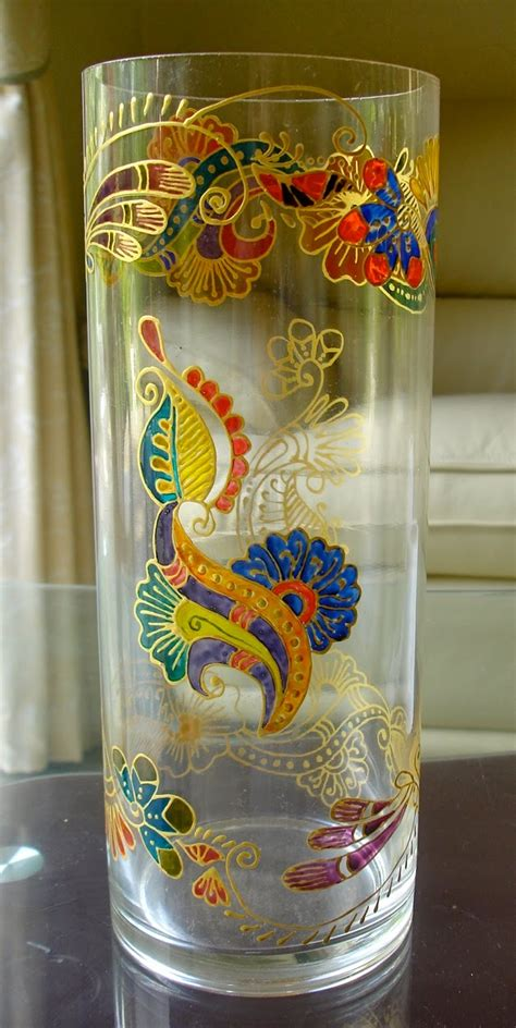 Glass Painting Designs For Vases glass painting vases zaufishan