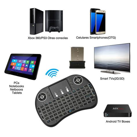 Mini Keyboard Wireless I8 With White Backlight i8 backlit mini wireless keyboard touchpad black free shipping dealextreme