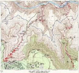 grand hiking trail map grand az mappery
