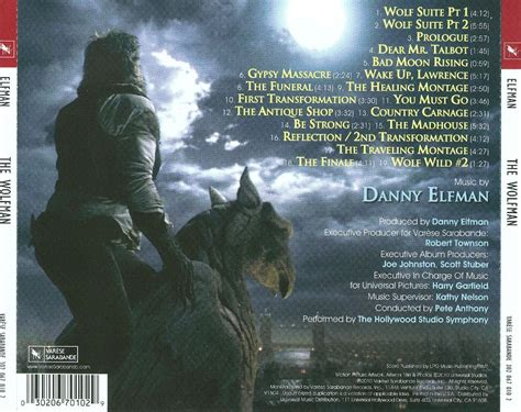 danny elfman credits the wolfman original score danny elfman songs