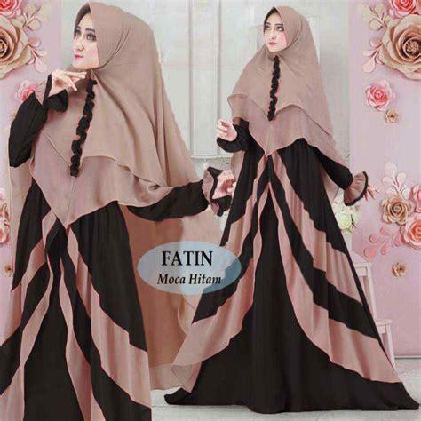 Gamis Fatin gamis lebaran terbaru fatin moka hitam model baju gamis