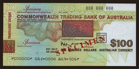 commonwealth trading bank of australia travellers cheque commonwealth trading bank of australia