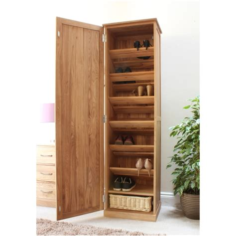 mobel solid oak tall shoe cupboard hallway hall storage