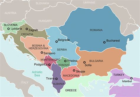 balkans map balkan tours eastern europe tours bulgaria custom tours across the balkans